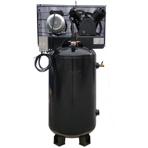 5HP Two-Stage Cast Iron Industrial Air Compressor 20CFM 175PSI /230V/1ph 80-Gallon-V-0.5/12.5