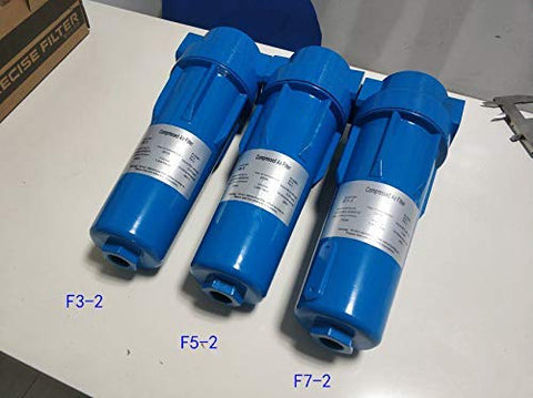 "HPDMC Oil Water Separator - 91 CFM & 150 PSI - 1"" NPT Thread Connection - 2.6 M³/Min Compressed Air Precision Filter for Air Compressor (F3-2)"