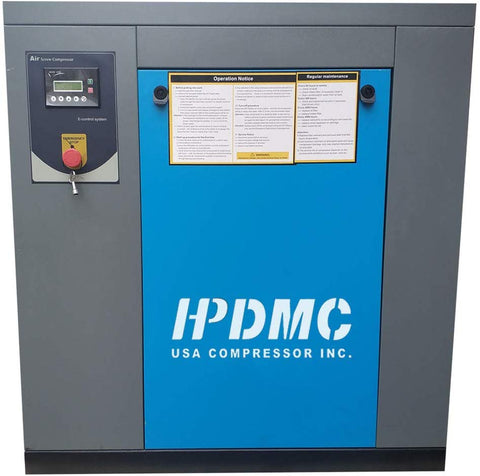 Image of 15HP 230V Rotary Screw Air Compressor  56cfm 125psi 230V/60Hz/3Ph Belt Driven PACK11/230V