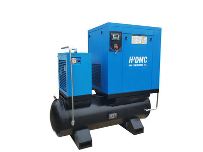 20HP  Rotary Screw Air Compressor 81CFM@125PSI  230V/60Hz/3PH 80 Gallon Air Tank with Air Dryer-PACK15-TA
