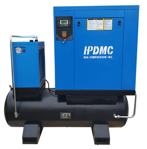 20HP 81cfm 125psi Rotary Screw Air Compressor 460V/60Hz 3-Phase 80 Gallon Air Tank with Air Dryer PACK15-TAE