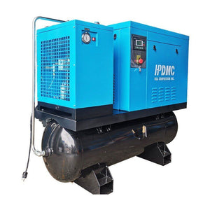 10HP 39cfm 125psi Rotary Screw Air Compressor 230V/60Hz 3Phase  80 Gallon Air Tank with Air Dryer PACK7-TA