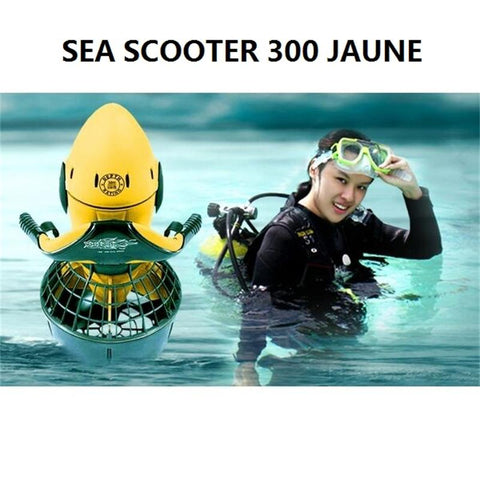 24V 300W Electric 30M Underwater Sea Scooter for Water Sports,Diving,Snorkel,Swim