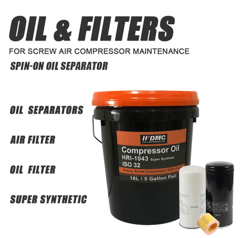 Oil and Replace Oil filter WD940 & Spin-on oil Separator DF5010 & air filter C1140 belt XPZ987 fit for PACK7TA Screw Air Compressor Maintenance-19F1650710(free shipping)