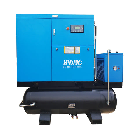 30HP/SC22-TAE Rotary Screw Air Compressor with Tank/Dryer 125cfm@125psi NPT1""