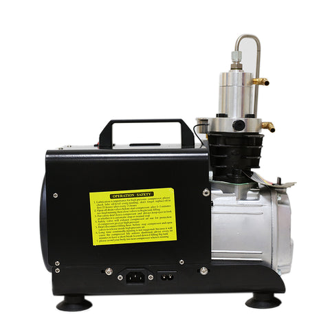 Image of 4500Psi 1.5KW Protable Air Compressor 110V/60Hz Manual Stop for Paintball Scuba Tank Filling Pump-SCU30 Manual