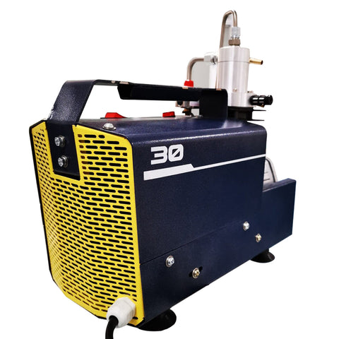 4500Psi - 1.5KW Protable Air Compressor-  - 110V/60Hz Auto Stop Variable Pressure for Paintball Tank Filling Pump-SCU30 AUTO