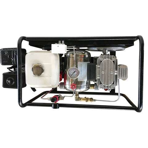Image of 8CFM 5HP Hookah Diving Compressor 115psi Honda Gas-SCU80P