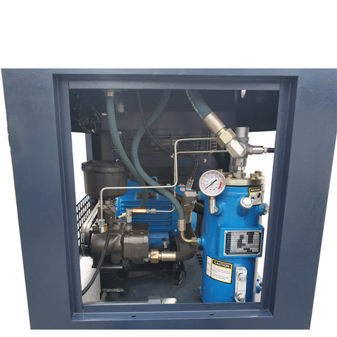 10HP Rotary Screw Compressor 40cfm@115PSI 230V/60Hz/1PH 80gallon tank-PACK7-TVSD HPDMC