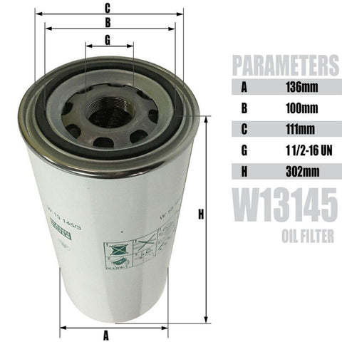 Oil Filter for screw air compressor 75hp -WD13145 free shipping