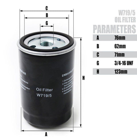 Image of Oil Filter for 4KW-7.5KW Screw Air Compressor Accessories -W719/5 (free shipping)