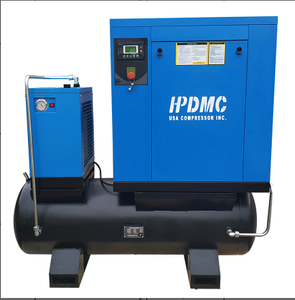 20HP 81 cfm @125psi Rotary Screw Air Compressor 230V/60Hz 3-Phase 80 Gallon Air Tank with Air Dryer-PACK15-TAE/230V