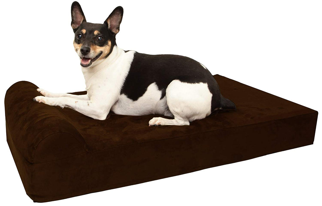Big Barker Mini - 4 Pillow Top Orthopedic Dog Bed with Headrest for Small Dogs 20 - 30 Pounds by Big Barker