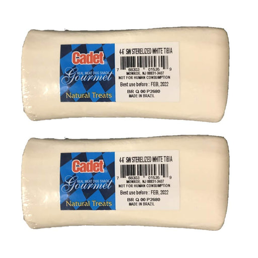 Cadet Sterile Natural Bone for Dogs, 4 to 6-Inch, White 2 Pack