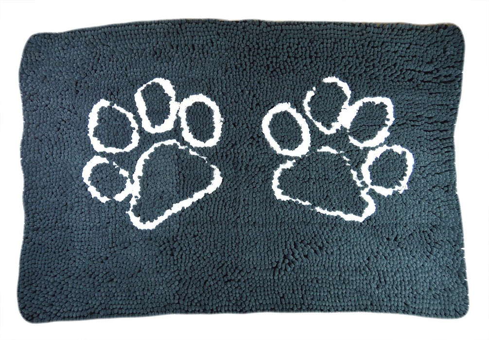 My Doggy Place - Ultra Absorbent Microfiber Dog Door Mat, Durable, Quick Drying, Washable, Prevent Mud Dirt, Keep Your House Clean (Charcoal w/Paw Print, Large) - 36 x 26 Inch