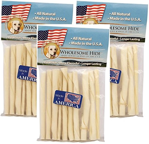 "Wholesome Hide 5"" Twists - 30 Total (3 Packs with 10 per Pack)"