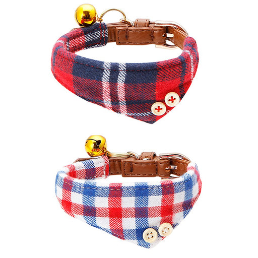 WZPB Cat Collar Adjustable Bowtie with Bell for Puppy and Cat (2 pcs)