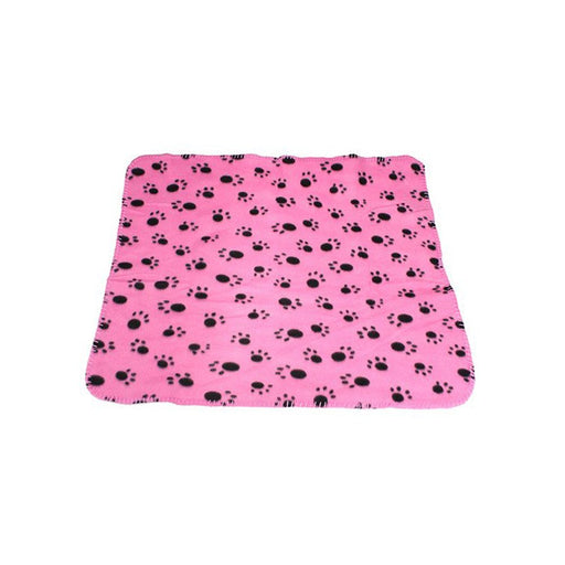 WZYuan Puppy Blanket Paw Prints Pet Cushion Small Dog Cat Bed Soft Warm Sleep Mat (Pink)