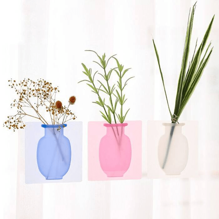 IB Sticky Wall Magic Silicone Flower Vase