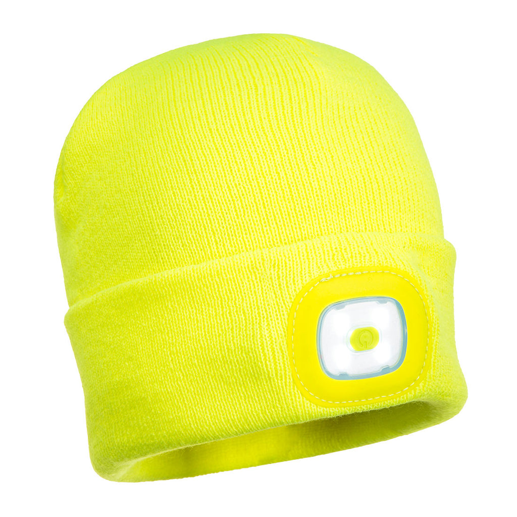 Beanie Hat with LED Head Light USB Rechargeable