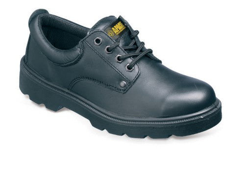 Water Resistant Black Leather Safety Shoe