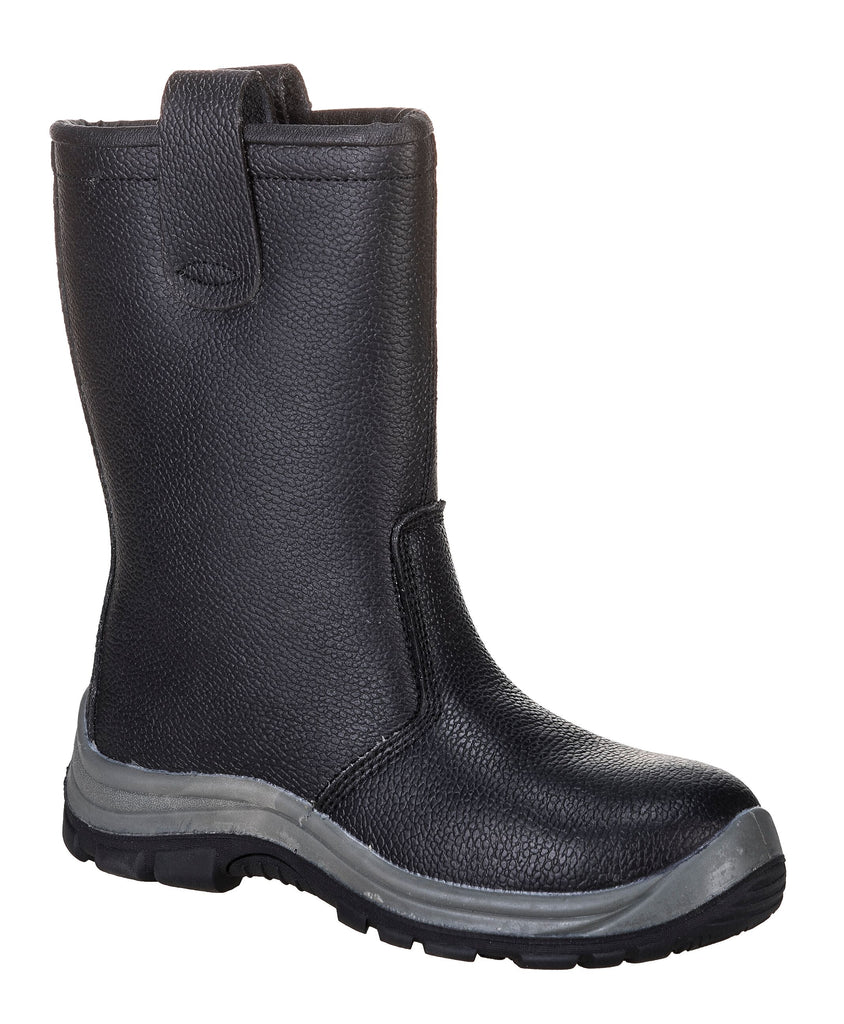 Steelite Safety Black Rigger Boot