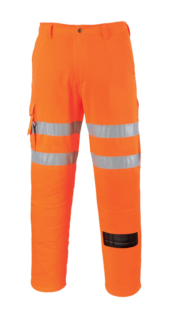 Orange Hi Vis Rail Combat Trousers