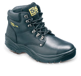 Sterling Black Leather Safety Boot