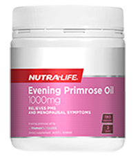 NutraLife Evening Primrose Oil (EPO)1000mg, 180c