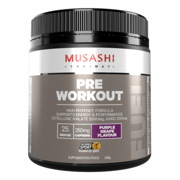 MUSASHI PRE-WORKOUT 225G FUEL