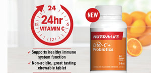 NUTRALIFE ESTER-C+ PROBIOTICS 60 CHEWABLE Tablets