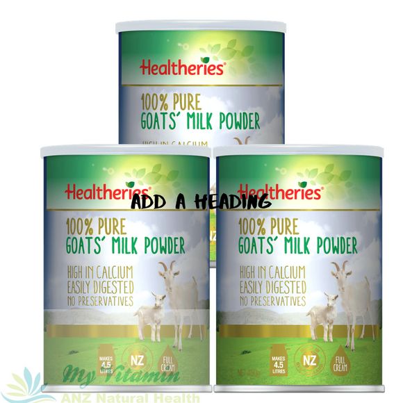 Healtheries Goats Milk Powder 450gr x 3 cans