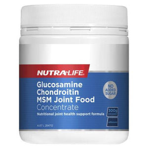 NUTRALIFE GLUCOSAMINE CHODROITIN MSM JOINT FOOD CNCENTRATE 300GR