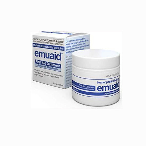 Emuaid First Aid Ointment NATURAL TREATMENT for over 100+Difficult Skin Condiions 2.0 OZ(59ml)
