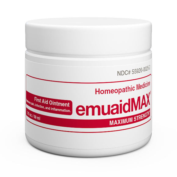 EMUAIDMAX  FIRST AID OINTMENTS NATURAL TREATMENT for resistant skin conditions: 0.5OZ(14ml)