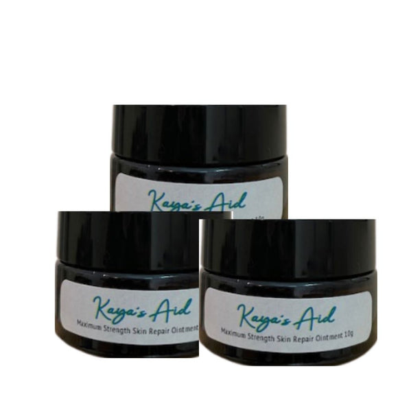 Kaya's Aid, A Skin Repair Ointment from Nature  10ml, 50ml, 100ml  3 jars packages
