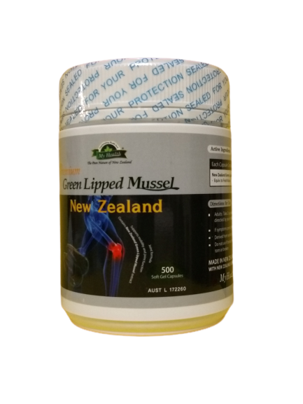 MY HEALTH PREMIUM GREEN LIPPED MUSSEL   (NEW ZEALAND)     500c