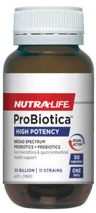 NutraLife ProBiotica 50 Billion Probiotics ,Shelf stable, 50C