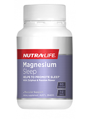 NutraLife MAGNESIUM SLEEP  PLUS ZIZIPHUS AND PASSION FLOWER  30c, 60c