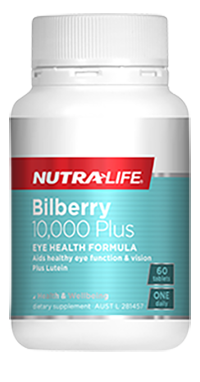 NutraLife Bilberry 10,000 Plus Lutein Complex 30, 60 Tablets
