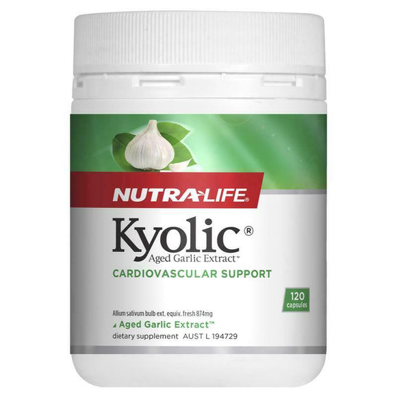 NutraLife Kyolic® Aged Garlic Extract™ , Cardiovascular Support, Ordourless, 60 CAPS