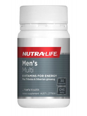 NUTRALIFE MEN'S MULTI B VITAMINS FOR ENERGY 30C