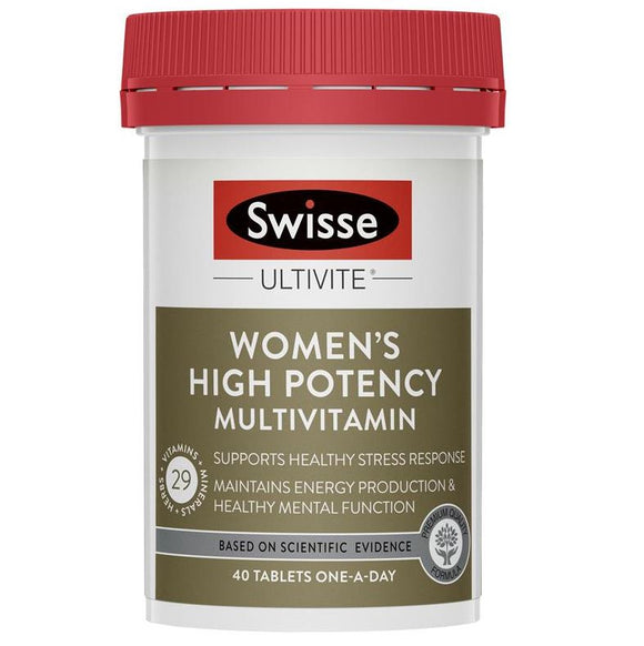 SWISSE ULTIVITE WOMEN'S  HIGH POTENCY MULTI VITAMIN 40T