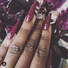 Load image into Gallery viewer, Cardi B Inspired Coffin Bling Press On Nails