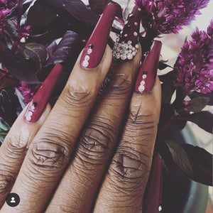 Cardi B Inspired Coffin Bling Press On Nails
