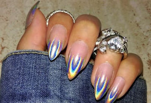 Baby Boomer Halo Ombre (Holographic Tip)