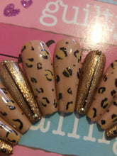 Load image into Gallery viewer, Savage At Heart (Leopard Ombre Accent Nails)