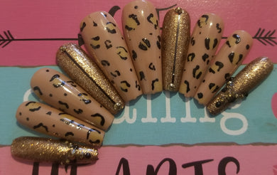 Savage At Heart (Leopard Ombre Accent Nails)
