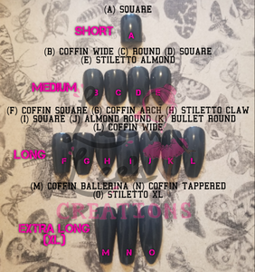 Lee Lee's Creations Nail Shape Chart