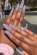 Load image into Gallery viewer, Goddess of Bling Extreme (Full Rhinestone Nails)